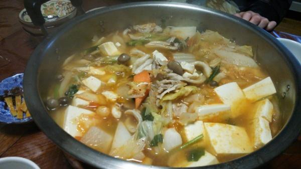キムチ鍋と締めのキムチラーメン