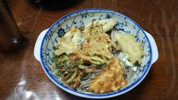 フルコースの天ぷら蕎麦