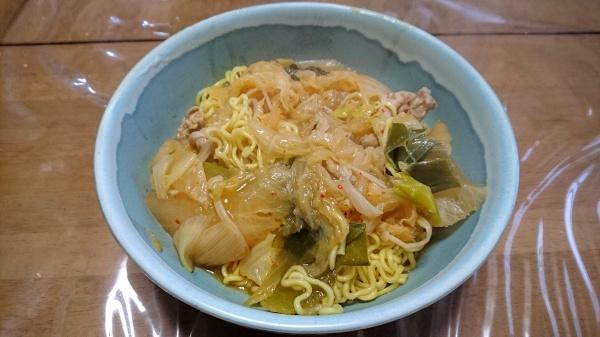 キムチ鍋の締めのラーメン