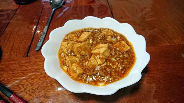 にんにくの効いたマーボ豆腐