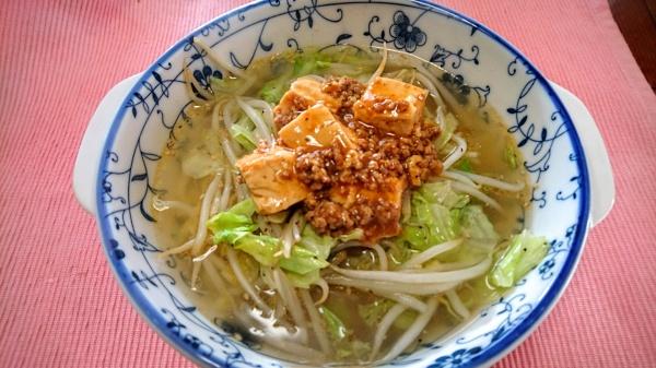 マーボタンメン(自宅麺)