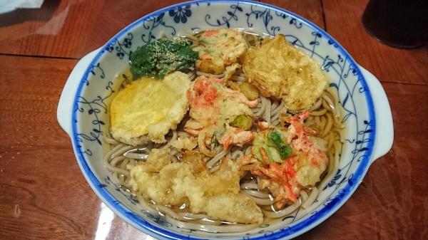 桜エビの天ぷら蕎麦