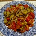 茄子とトマトのジェノベーゼ(バジルパスタ)