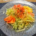 贅沢な夏野菜の「冷やし中華」