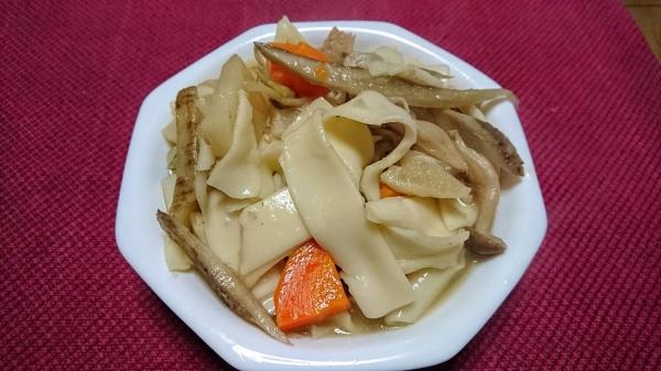 ちゃんこ鍋で作る「おっきりこみうどん」