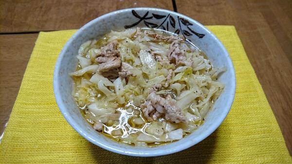 【らーめんレシピ】キャベツと豚ロースのタンメン