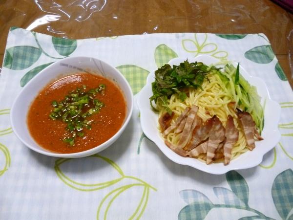 トマトソースのつけ麺パスタ(創作パスタ)
