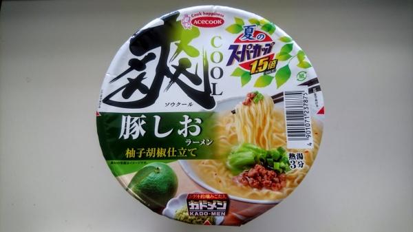 豚しおラーメン柚子胡椒仕立て(夏のスーパーカップ)