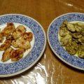 カレー味とバジル味の鶏肉ソテー